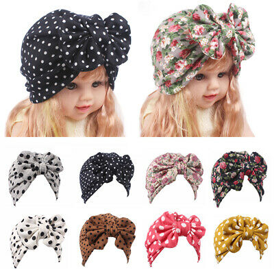 1PC Baby Girls Turban Hat Cap with Big Bow Hairband Head Wrap Hospital Hat