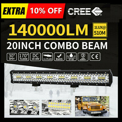 20inch CREE LED Light Bar Spot Flood Driving Lamp Offroad 4WD 4x4 Truck JEEP SUV