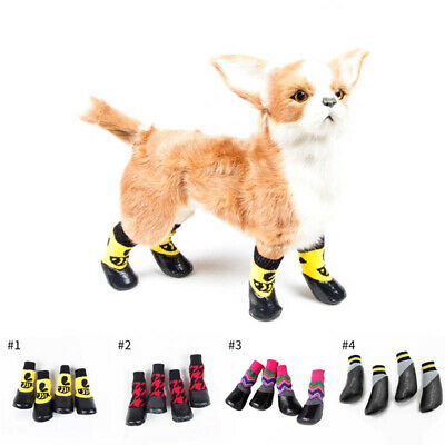 4 Pcs Pet Dog Shoes Boots Waterproof Socks Puppy Non-slip Outdoor Feet Cover