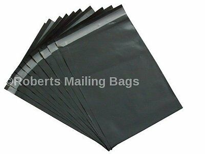 """100 BAGS of 12"""" x 16"""" STRONG POLY MAILING POSTAGE POSTAL QUALITY SELF SEAL GREY/"""
