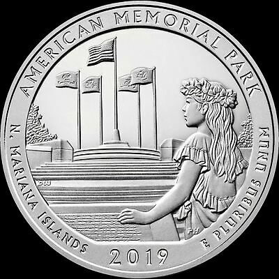 "2019 P American Memorial Park Quarter Northern Mariana Islands ""BU"" ATB"