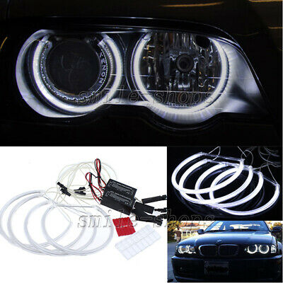 White Angel Eye Light Halo Ring White CCFL For BMW E46 3 Series Non-Projector