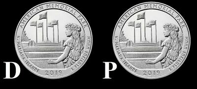 "2019 P&D American Memorial Park Mariana Islands Quarter ""BU"" ATB (2 Coin Set)"
