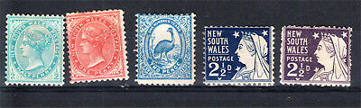 New South Wales X 5 Mint (H47)