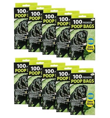 1000 Doggy Bags Scented Strong Dog Poo Bags Tie Handle Fragranced Poop Bag Scoop