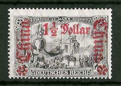CHINA GERMAN OFFICES 1906-1919 Mint NH 1 1/2 D on 3 M Michel #46A CV €100