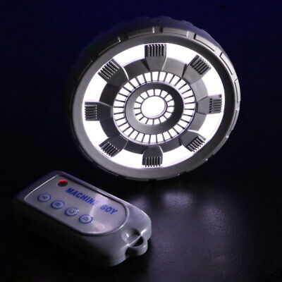 Iron Man Chest Lamp Arc Reactor With Remote Control LED Light Cosplay Props Gift