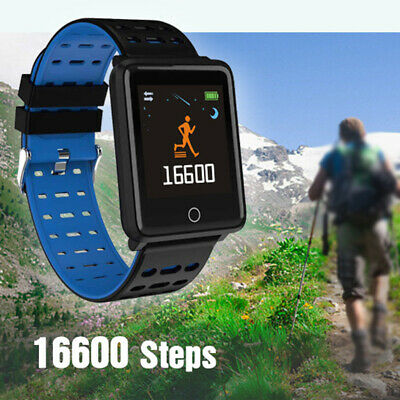 Smart Watch Waterproof Blood Pressure Heart Rate Monitor for iOS Android US