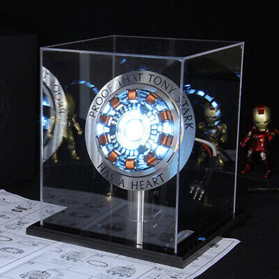 Avengers 1:1 Iron Man Arc Reactor Acrylic Metal Version MK1 Reactor Boy DIY Gift