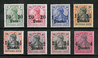 TURKEY GERMAN OFFICES 1905-1913 Mint Hinged Set of 8 Michel #36-43 CV €85