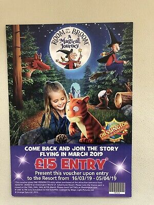 4 X Chessington World Of Adventures Back Voucher £15 Entry 16/3/19 - 5/4/19
