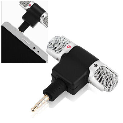 Mini Mic 3.5mm Digital Stereo Portable Microphone For PC Mobile Phone Recorder