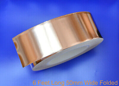 Copper Foil Tape EMI shielding for Guitar/Slug and snail barrier 6'x50mm