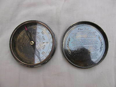 Nautical Compass Solid Brass Directional Vintage Compass Royal Navy Ship Compass