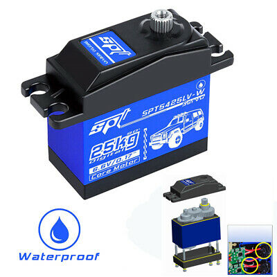 Core Motor Waterproof SPT5425LV-W 25KG Digital Servo For 1:8 1:10 RC Car Boat