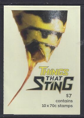2014 Australian $7 Booklet - Things that Sting  - MNH  10 x 70c  P&S stamps