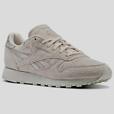 Scarpe Donna Reebok Classic Leather Shimmer Bs9865 Rosa Sneakers Tg. 38  Nuovo 7ae7558487a