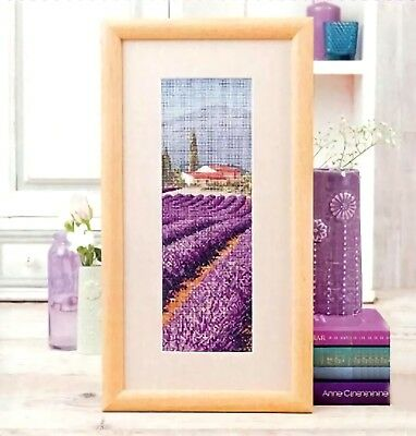 Lavender field and the little house finished cross stitch home decoration gifts