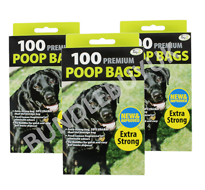 Fragranced Dog Poo Bags Scented Doggy Bags Strong Large Tie Handles QTY 100-1200