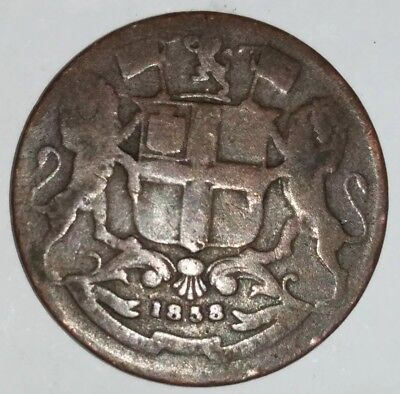 British , India Queen Victoria 1858 One Quarter Anna