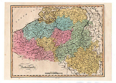 Map Of Netherlands circa 1840 Antique Original
