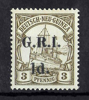 GERMAN NEW GUINEA OCCUPATION 1914 Mint LH G.R.I. 1d on 3 Pf SG #16 CV £100