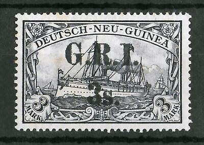 GERMAN NEW GUINEA OCCUPATION 1914 MNH G.R.I. 3 S on 3 M SG #14 CV £5500 Signed