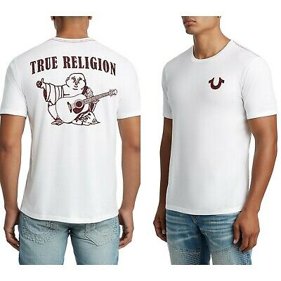 3bc715de True Religion Brand Jeans Men's Buddha Logo Crew Tee Shirt Top - 101061