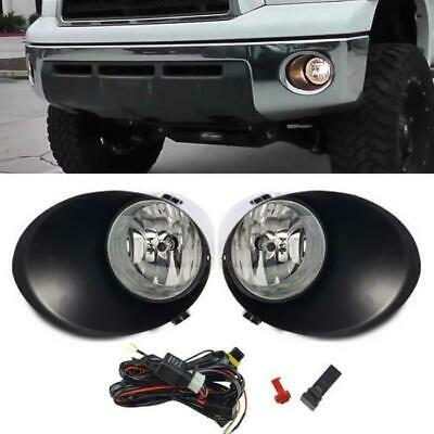 For Toyota 07-13 Tundra 08-11 Sequoia Bumper Driving Fog Light Lamp+Switch+Bulb
