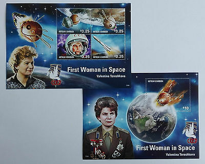 Antigua Barbuda 2015** Klb.5248/51, Bl.738. First Woman in Space MNH [16;45]
