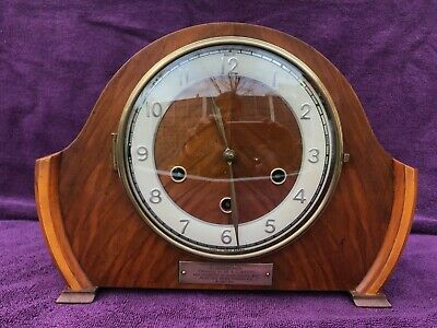 Superb Vintage Antique Smiths Westminster Chime Mantel Clock Working See Video
