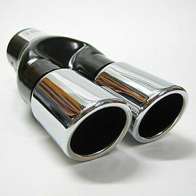 Twin Exhaust Tip Trim For VW Passat Polo Bora Caddy Touran Jetta New Beetle