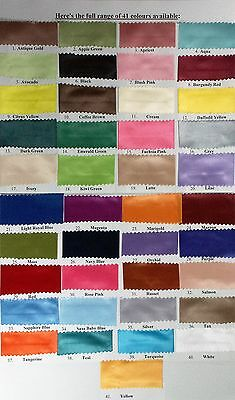 """48mm or 2"""" x 5 metres Single Sided Satin Ribbon 41 Colours to choose from NEW"""