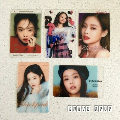 BLACKPINK 블랙핑크 <LISA ROSE JISOO JENNIE> 5 TRANSPARENT PHOTOCARDS {Select Member}