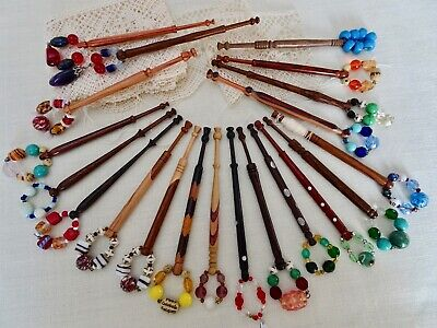 Twenty Very Attractive Well Turned Wood Lace Maker's Bobbins