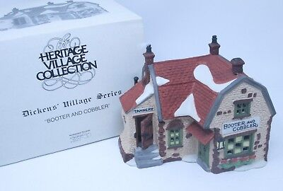 Department 56 Dickens Heritage Village Booter And Cobbler 5924-2 Euc