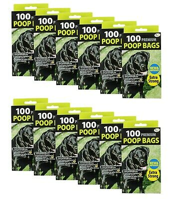 1200 Doggy Bags Scented Strong Dog Poo Bags Tie Handle Fragranced Poop Bag
