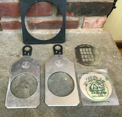 Lot of S4 Light Accessories Holder S4 A Holder Frame Rosco DHA  Gobos Nice Cond