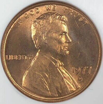 1977 D Ngc Ms66Rd Red Lincoln Memorial Cent **Make An Offer**