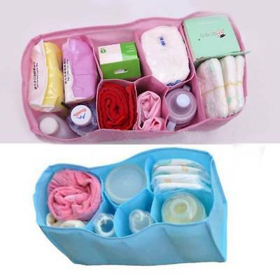 1PC Baby Portable Pouch Diaper Nappy Water Bottle Changing Divider Storage Bag