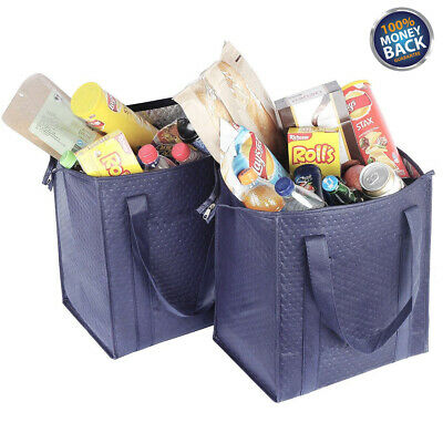 """15"""" Large Thermo Insulated Tote Bag Lunch Containers Shopping Food Drinks Tote"""