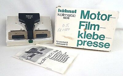 Hahnel Kollmatic SD8 Motor Klebe Presse Motorized Film Splicer Normal 8 Super 8