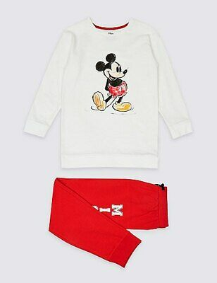 New Kids Girls M&S Mickey Mouse Pyjamas Lounge wear Nightwear 3 up to 14 years