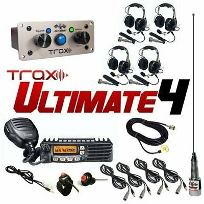 PCI Race Radios Trax Ultimate 4 Seater Communication Kit