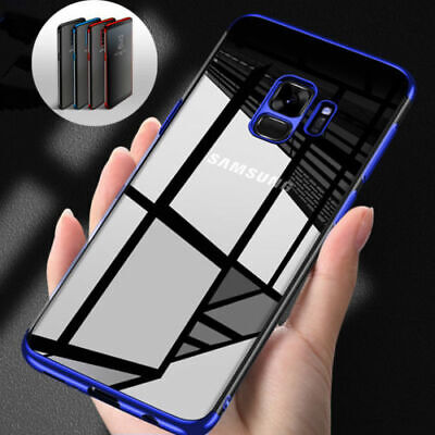 For Samsung Galaxy S8 S9 Luxury Ultra Slim Shockproof Silicone Clear Case Cover