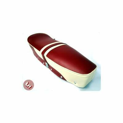 LAMBRETTA TSR Top Quality Bench Seat 2Tone OxBlood Red/Cream SX/GP/LI/LIS/TV