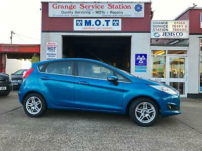 2013 FORD FIESTA 1.25 82 Zetec 5dr FULL SERVICE HISTORY STUNNING CANDY BLUE