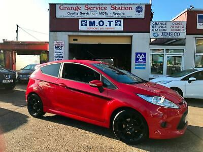 2009 FORD FIESTA 1.6 ZETEC S 3dr BODY STYLING BLACK WHEEL and DECALS ..