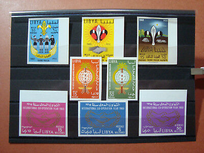 Libia Libya 1962-65 Serie Complete Nd 118-19 + 122-24 + 175-77 Mnh Val Cat € 27