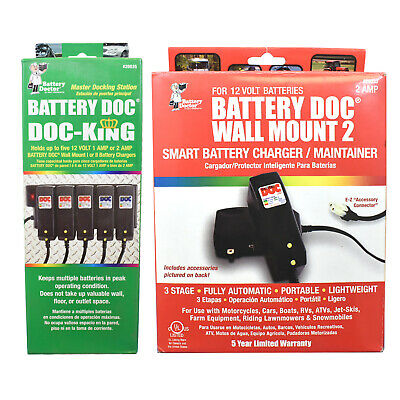 Battery Doc: Doc-King Customizable Dock | Charges Up To 5 Batteries